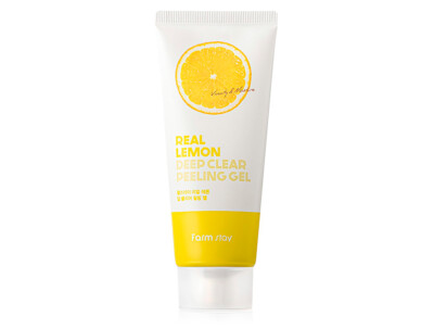 Пилинг-гель для лица с экстрактом лимона FarmStay Real Lemon Deep Clear Peeling Gel, 100мл - Фото №1