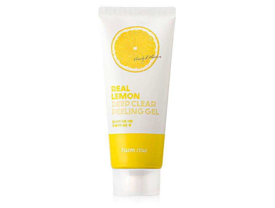 Пилинг-гель для лица с экстрактом лимона FarmStay Real Lemon Deep Clear Peeling Gel, 100мл - Фото №1