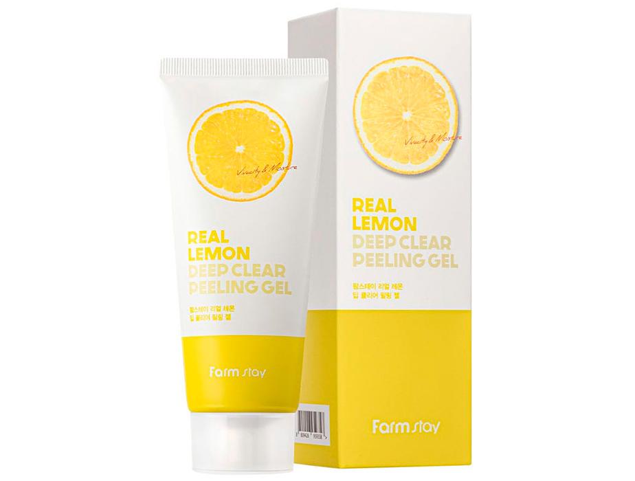Пилинг-гель для лица с экстрактом лимона FarmStay Real Lemon Deep Clear Peeling Gel, 100мл - Фото №2