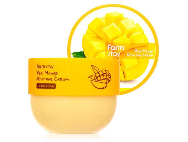 Крем для лица и тела с экстрактом манго FarmStay Real Mango All-In-One Cream, 300мл - Фото №1