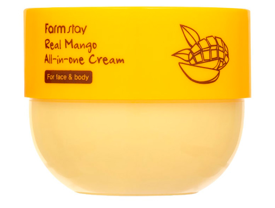 Крем для лица и тела с экстрактом манго FarmStay Real Mango All-In-One Cream, 300мл - Фото №2
