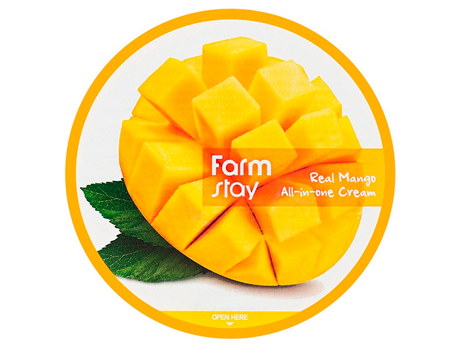Крем для лица и тела с экстрактом манго FarmStay Real Mango All-In-One Cream, 300мл - Фото №3