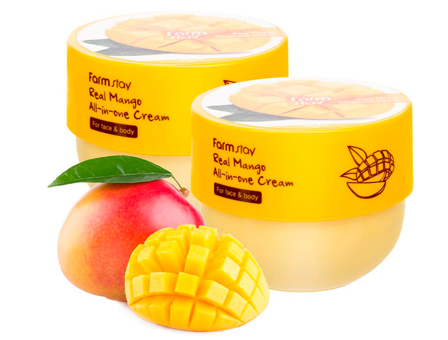 Крем для лица и тела с экстрактом манго FarmStay Real Mango All-In-One Cream, 300мл - Фото №4