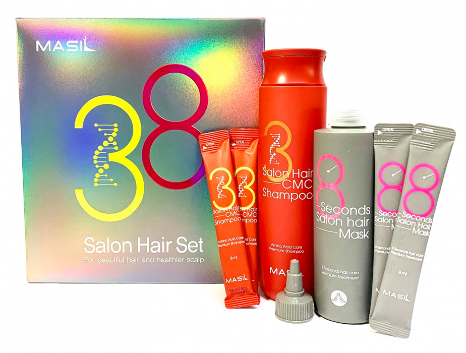Набор для волос из маски для волос и шампуня Masil 38 Seconds Salon Hair Set - Фото №3