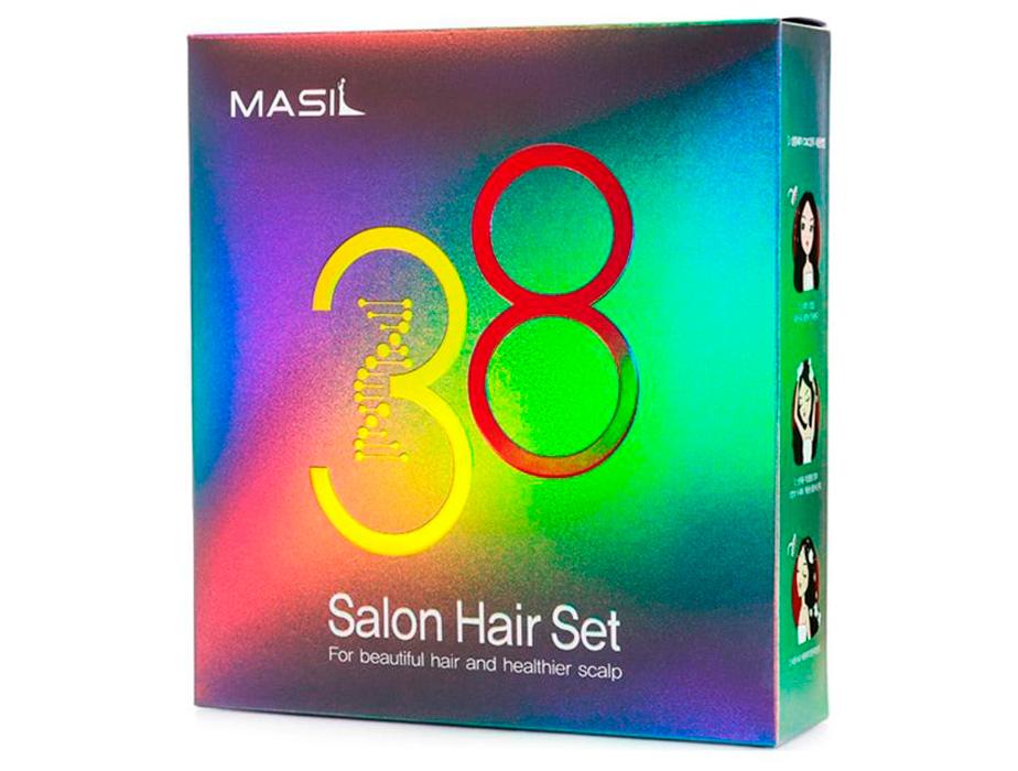 Набор для волос из маски для волос и шампуня Masil 38 Seconds Salon Hair Set - Фото №4