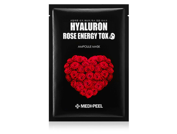 Омолаживающая маска для лица с розой Medi-Peel Hyaluron Rose Energy Tox Ampoule Mask - Фото №1
