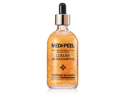 Сыворотка для лица с золотом для эластичности кожи Medi-Peel Luxury 24K Gold Ampoule, 100мл - Фото №1