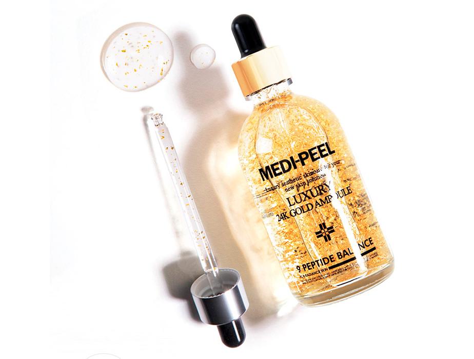 Сыворотка для лица с золотом для эластичности кожи Medi-Peel Luxury 24K Gold Ampoule, 100мл - Фото №2