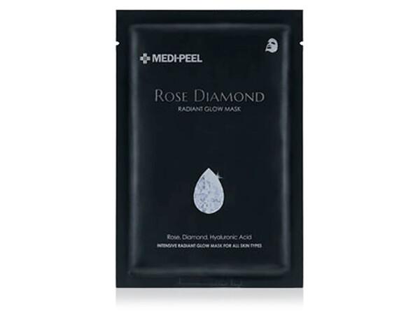Маска с алмазной пудрой для сияния кожи лица Medi-Peel Rose Diamond Radiant Glow Mask - Фото №1