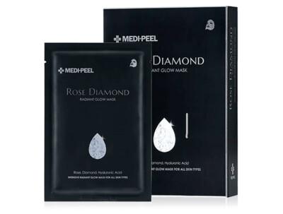Маска с алмазной пудрой для сияния кожи лица Medi-Peel Rose Diamond Radiant Glow Mask, 10шт - Фото №1