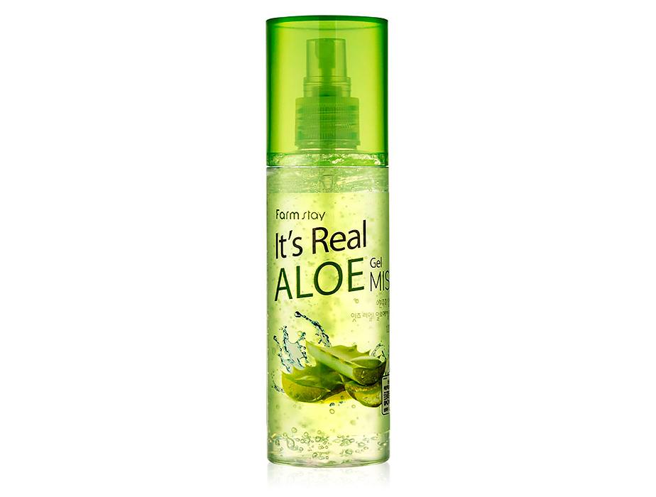 Гель-мист для лица с экстрактом алоэ FarmStay It's Real Aloe Gel Mist, 120мл