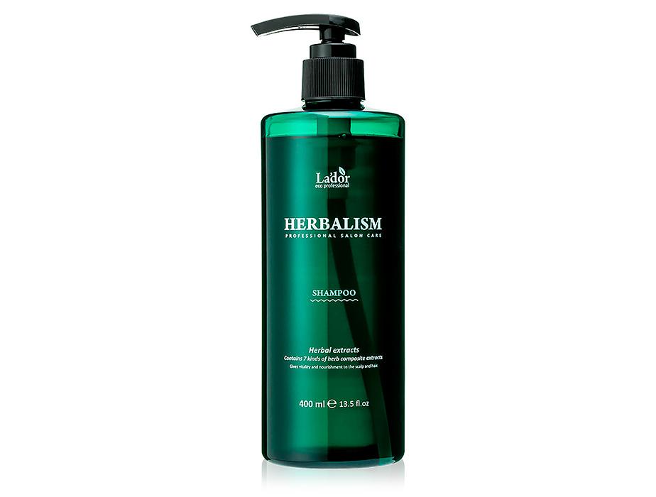 Успокаивающий травяной шампунь с аминокислотами Lador Herbalism Shampoo, 400мл