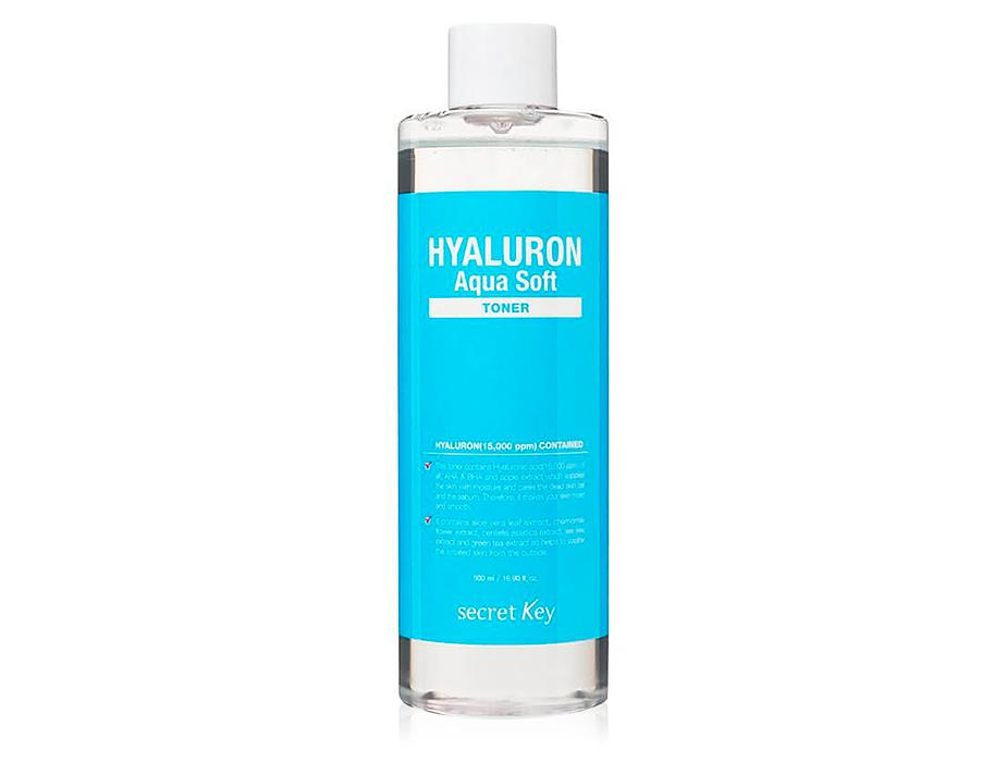 Гиалуроновый тонер для лица Secret Key Hyaluron Aqua Soft Toner, 500мл