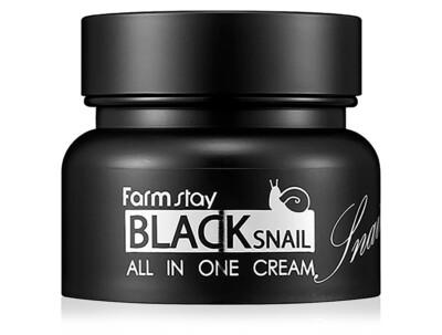 Многофункциональный крем для лица с муцином черной улитки FarmStay Black Snail All In One Cream, 100мл - Фото №1