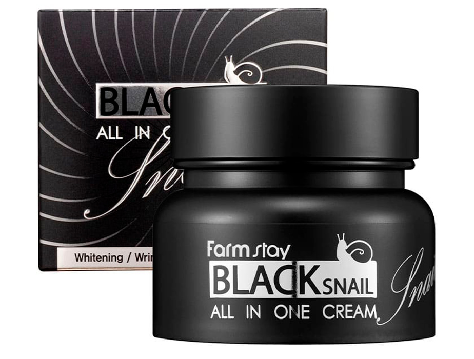 Многофункциональный крем для лица с муцином черной улитки FarmStay Black Snail All In One Cream, 100мл - Фото №2