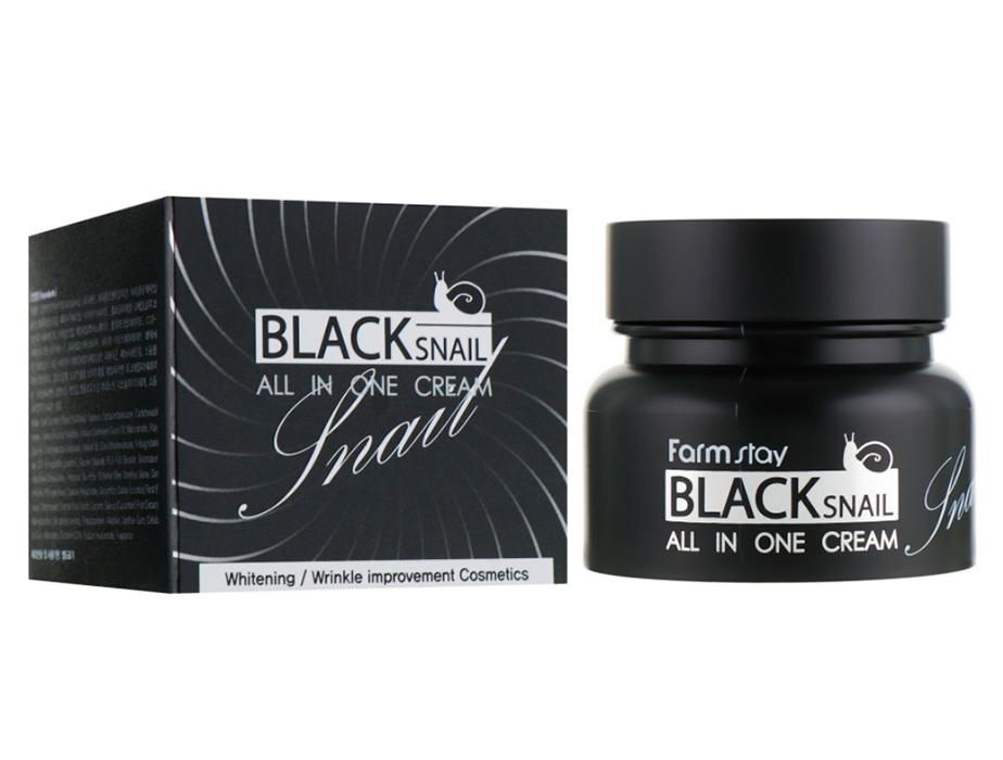 Многофункциональный крем для лица с муцином черной улитки FarmStay Black Snail All In One Cream, 100мл - Фото №3