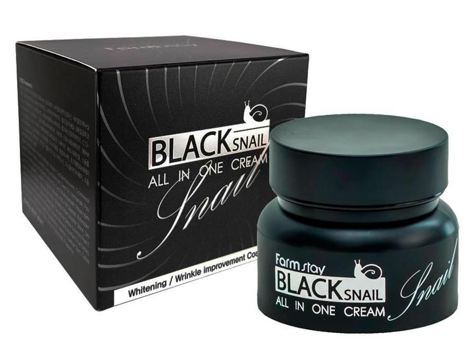 Многофункциональный крем для лица с муцином черной улитки FarmStay Black Snail All In One Cream, 100мл - Фото №4
