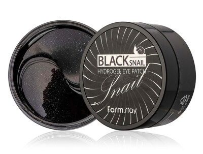 Гидрогелевые патчи под глаза с муцином черной улитки FarmStay Black Snail Hydrogel Eye Patch, 60шт - Фото №1