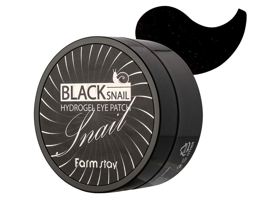 Гидрогелевые патчи под глаза с муцином черной улитки FarmStay Black Snail Hydrogel Eye Patch, 60шт - Фото №4