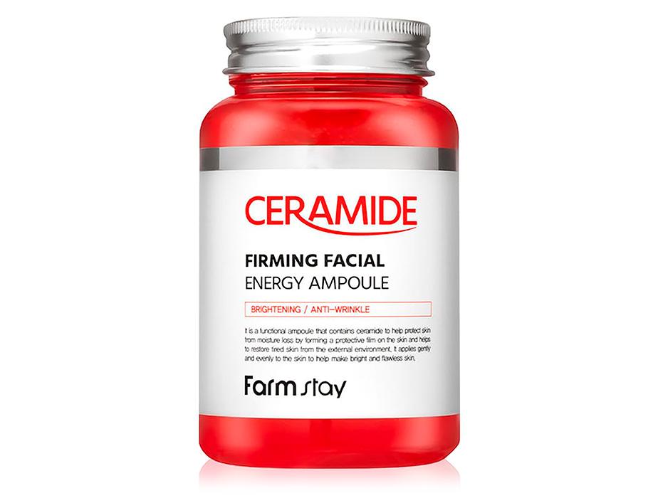 Многофункциональная ампульная сыворотка для лица с керамидами FarmStay Ceramide Firming Facial Energy Ampoule, 250мл - Фото №1