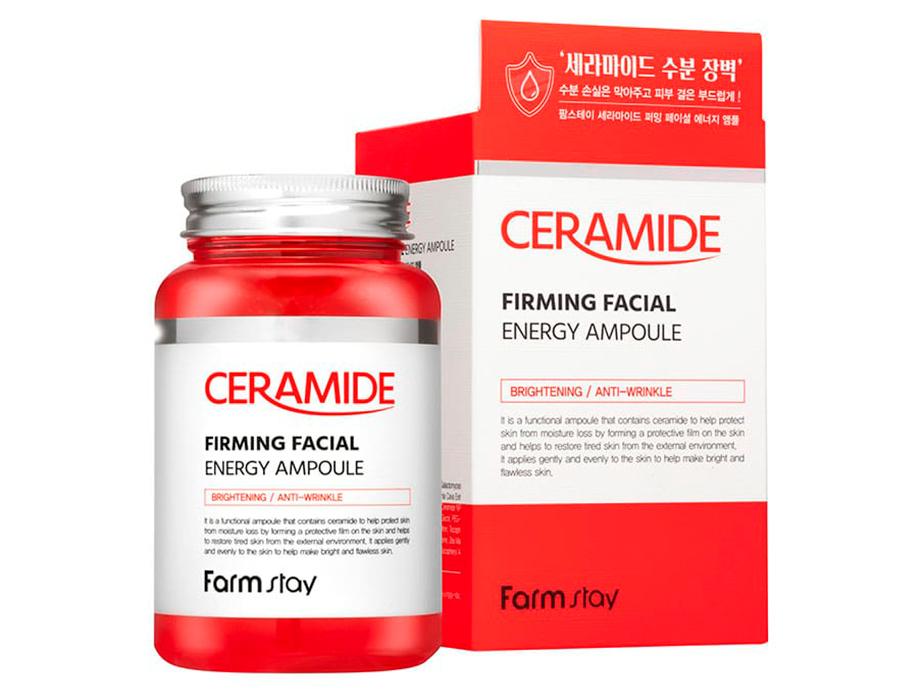 Многофункциональная ампульная сыворотка для лица с керамидами FarmStay Ceramide Firming Facial Energy Ampoule, 250мл - Фото №2
