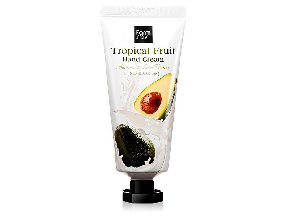 Крем для рук с авокадо и маслом ши FarmStay Tropical Fruit Hand Cream Avocado & Shea Butter, 50мл - Фото №1