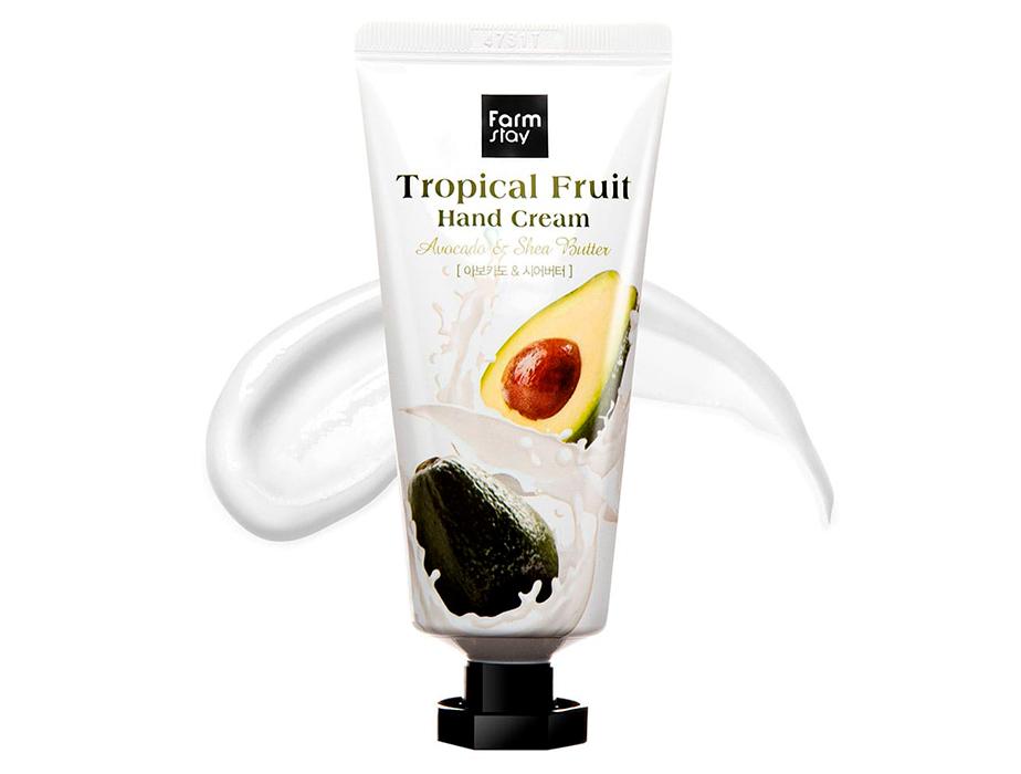 Крем для рук с авокадо и маслом ши FarmStay Tropical Fruit Hand Cream Avocado & Shea Butter, 50мл - Фото №2