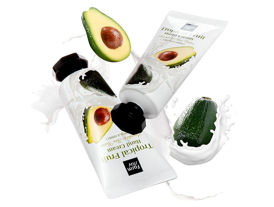 Крем для рук с авокадо и маслом ши FarmStay Tropical Fruit Hand Cream Avocado & Shea Butter, 50мл - Фото №3