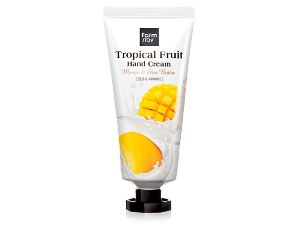 Крем для рук с манго и маслом ши FarmStay Tropical Fruit Hand Cream Mango & Shea Butter, 50мл - Фото №1