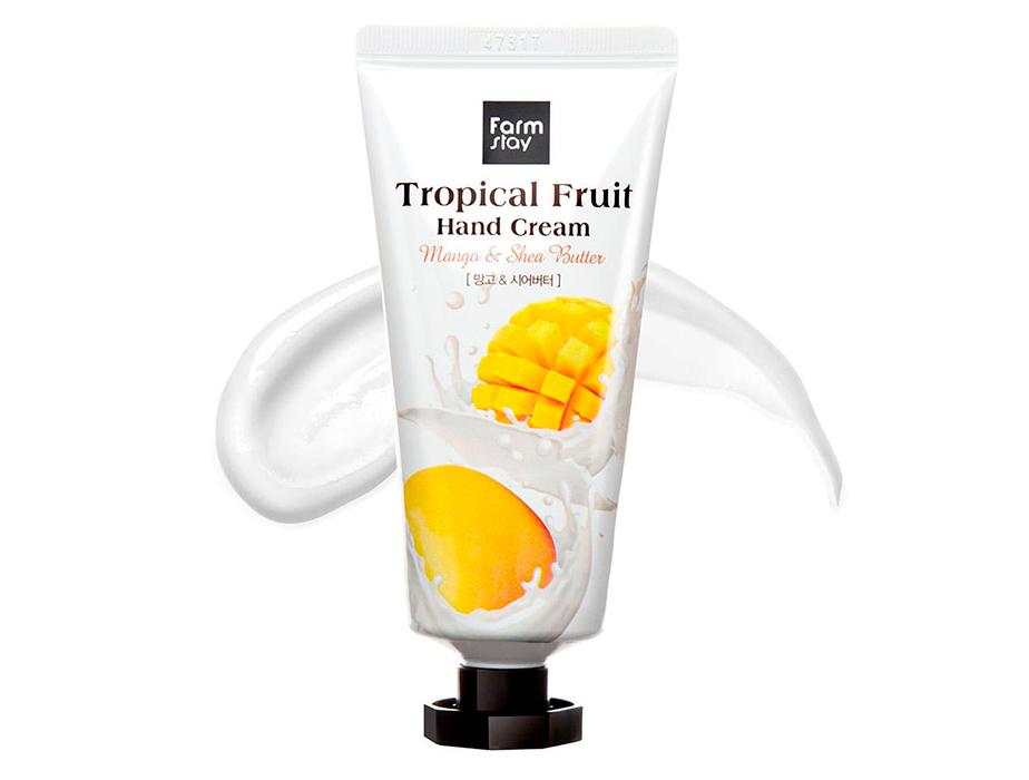 Крем для рук с манго и маслом ши FarmStay Tropical Fruit Hand Cream Mango & Shea Butter, 50мл - Фото №2