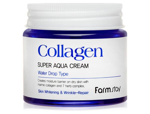 Увлажняющий крем для лица с коллагеном FarmStay Collagen Super Aqua Cream, 80мл - Фото №1