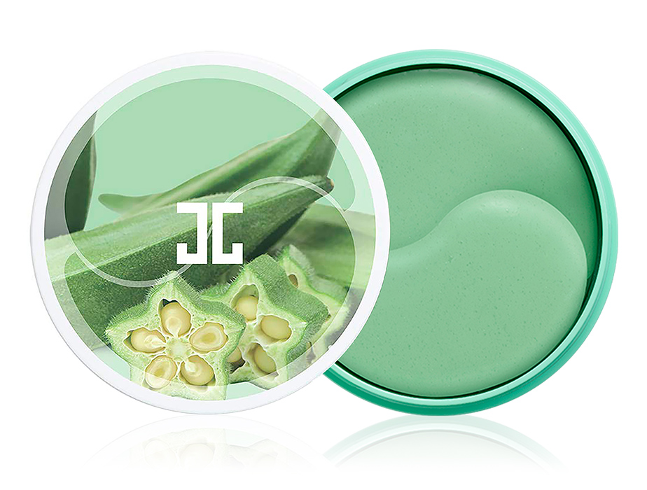 Укрепляющие гидрогелевые патчи под глаза с экстрактом плодов окры Jayjun Okra Green Eye Gel Patch, 60шт - Фото №1