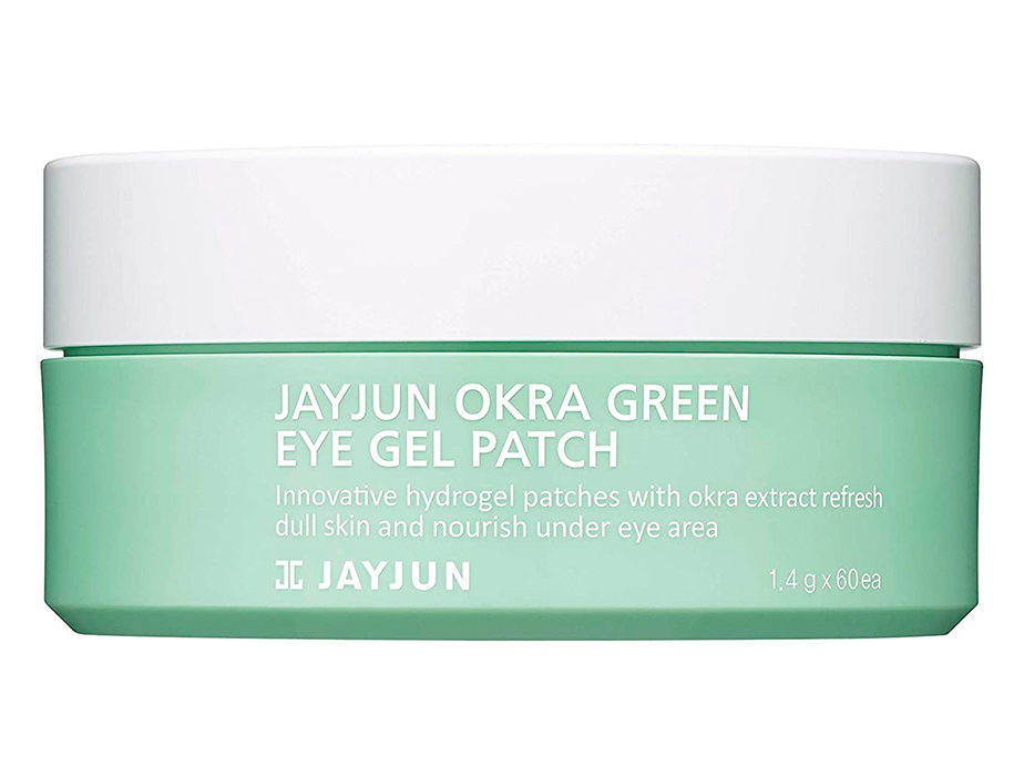 Укрепляющие гидрогелевые патчи под глаза с экстрактом плодов окры Jayjun Okra Green Eye Gel Patch, 60шт - Фото №3