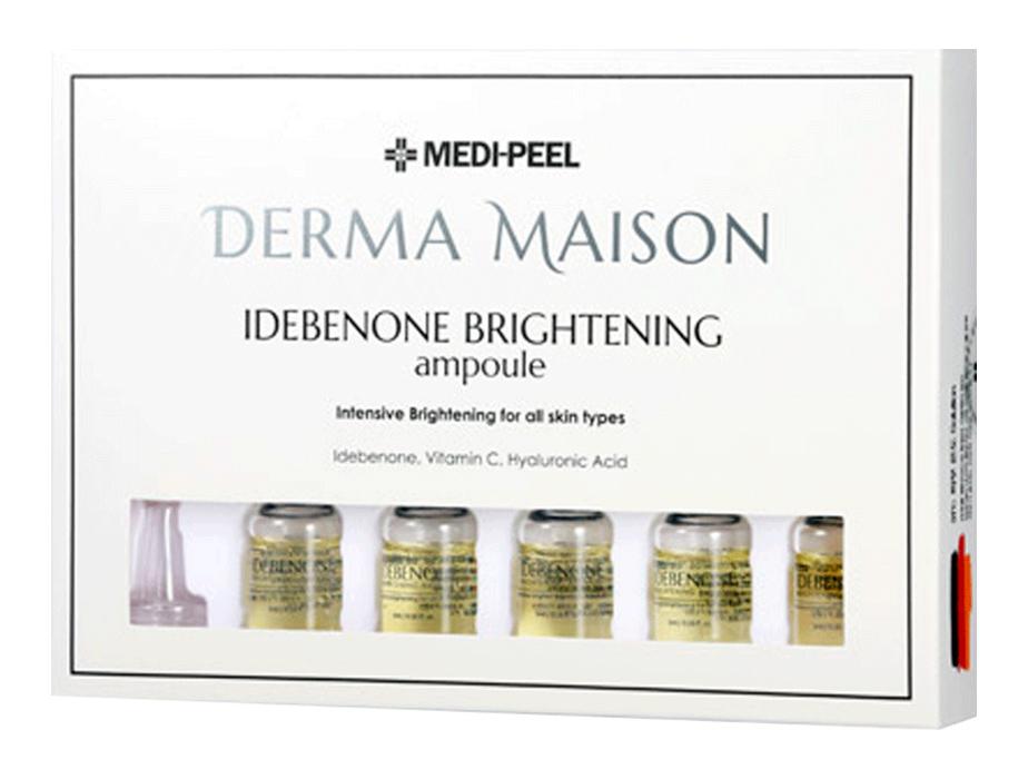 Концентрированные ампулы с идебеноном Medi-Peel Derma Maison Idebenone Brightening Ampoule, 10шт по 5мл - Фото №2