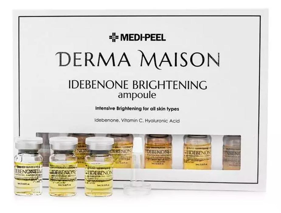 Концентрированные ампулы с идебеноном Medi-Peel Derma Maison Idebenone Brightening Ampoule, 10шт по 5мл - Фото №3