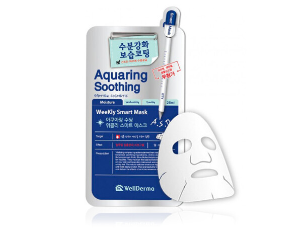 Увлажняющая тканевая маска для лица WellDerma Aquaring Soothing Weekly Smart Mask - Фото №1