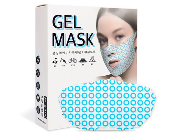 Лифтинг-маска для подтяжки овала лица WellDerma Sports Cooling Gel Mask, 10шт - Фото №1