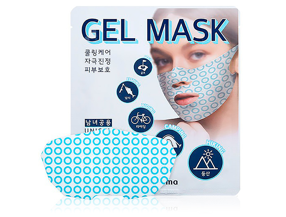 Лифтинг-маска для подтяжки овала лица WellDerma Sports Cooling Gel Mask