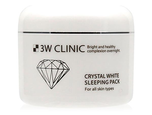 Охлаждающая отбеливающая ночная маска для лица 3W Clinic Crystal White Sleeping Pack, 100мл - Фото №1