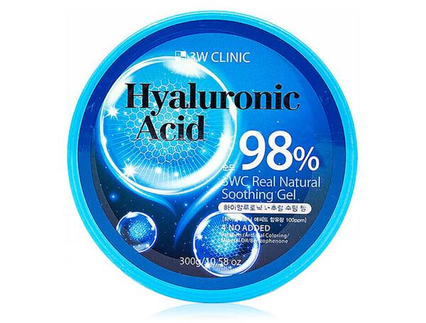 Универсальный гель для лица и тела с гиалуроновой кислотой 3W Clinic Hyaluronic Acid Real Natural Soothing Gel, 300мл - Фото №1
