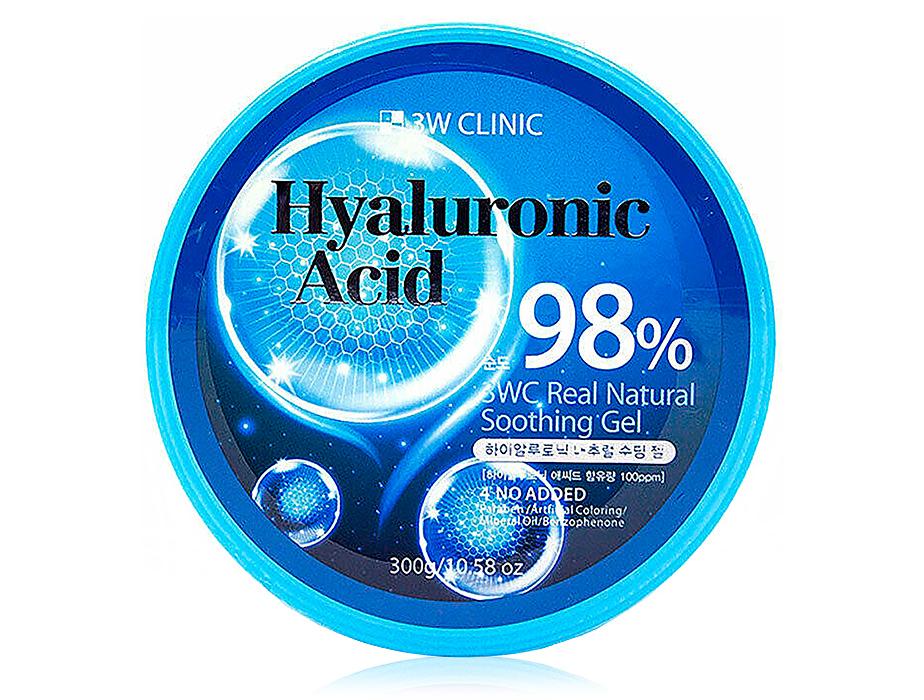 Универсальный гель для лица и тела с гиалуроновой кислотой 3W Clinic Hyaluronic Acid Real Natural Soothing Gel, 300мл