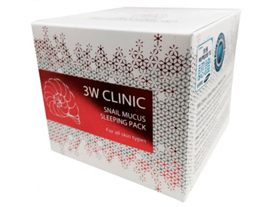 Ночная маска для лица c экстрактом улиточной слизи 3W Clinic Snail Mucus Sleeping Pack, 100мл - Фото №4