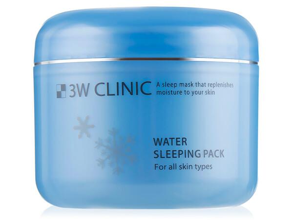 Увлажняющая ночная маска для лица 3W Clinic Water Sleeping Pack, 100мл - Фото №1