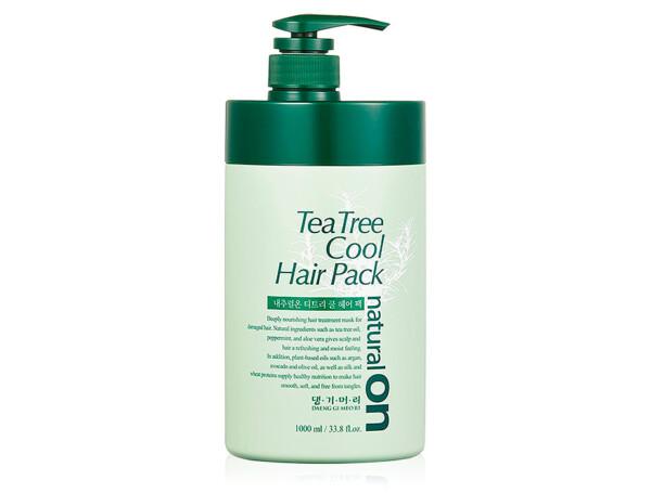 Освежающая маска для волос на основе чайного дерева Daeng Gi Meo Ri Naturalon Tea Tree Cool Hair Pack, 1000мл - Фото №1