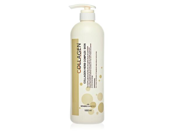 Тонер для лица с коллагеном и растительными экстрактами Esthetic House Collagen Herb Complex Skin, 1000мл - Фото №1