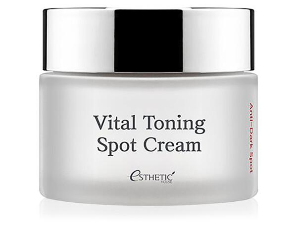 Осветляющий тонизирующий крем для лица Esthetic House Vital Toning Spot Cream Anti-Dark Spot, 50мл - Фото №1