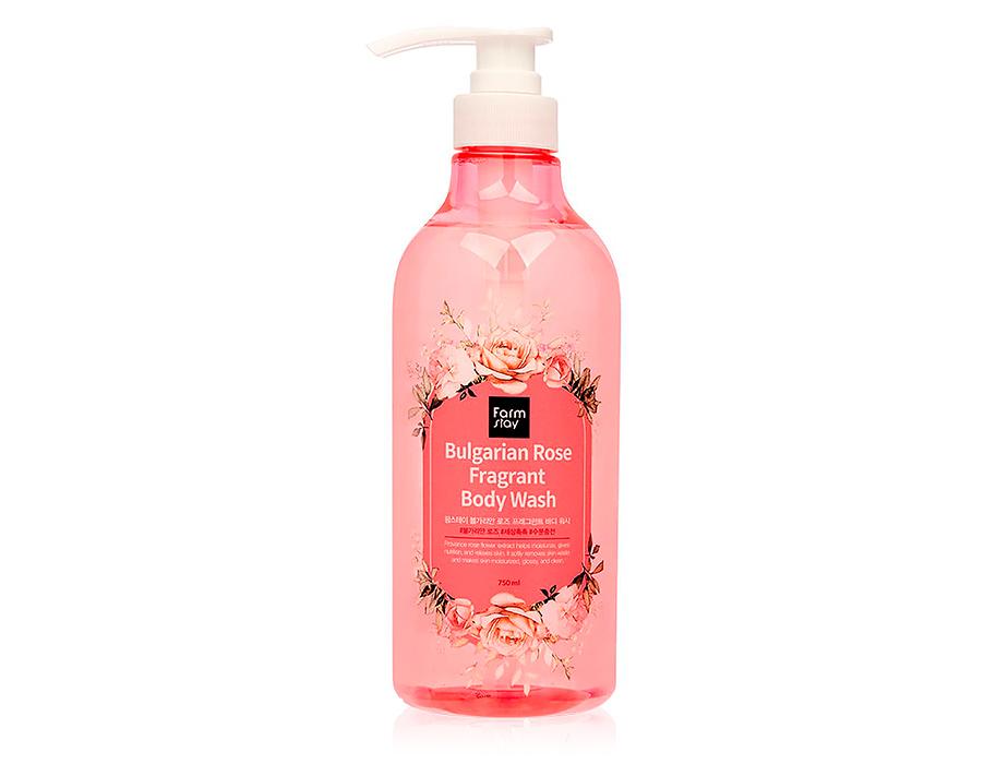Гель для душа с экстрактом болгарской розы FarmStay Bulgarian Rose Fragrant Body Wash, 750мл