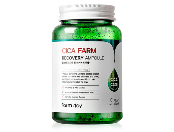 Восстанавливающая сыворотка для лица с центеллой FarmStay Cica Farm Recovery Ampoule, 250мл - Фото №1