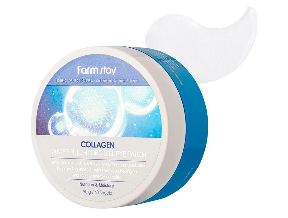 Гидрогелевые патчи под глаза с коллагеном FarmStay Collagen Water Full Hydrogel Eye Patch, 60шт - Фото №4