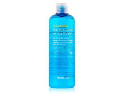 Интенсивно увлажняющий тонер для лица с коллагеном FarmStay Collagen Water Full Moist All Day Toner, 500мл - Фото №1